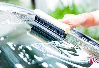 手洗い撥水洗車